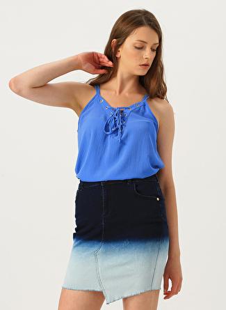 L Açık Mavi Stamina Bluz 5002440326001 Kadın Giyim Gömlek &