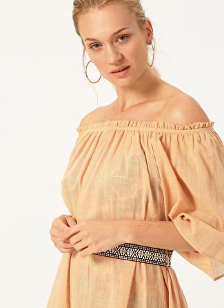 S-M Bej Random Plaj Elbisesi 5002440428002 Kadın Modası Giyim