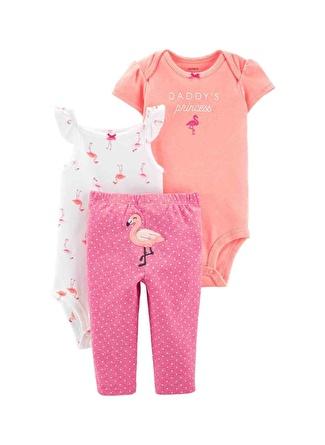 6 Ay Kadın Siyah - Gri Yeşil Carters Set 3lü 5002440528006 Çocuk Bebek Giyim
