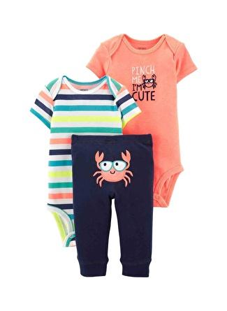 12 Ay Erkek Siyah - Gri Yeşil Carters Set 3lü 5002440529002 Çocuk Bebek Giyim