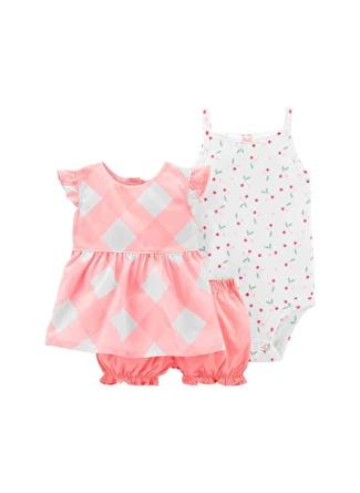 12 Ay Kadın Siyah - Sarı Carters Set 3lü 5002440540001 Çocuk Bebek Giyim