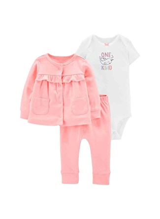 12 Ay Kadın Pembe Carters Set 3lü 5002440548002 Çocuk Bebek Giyim