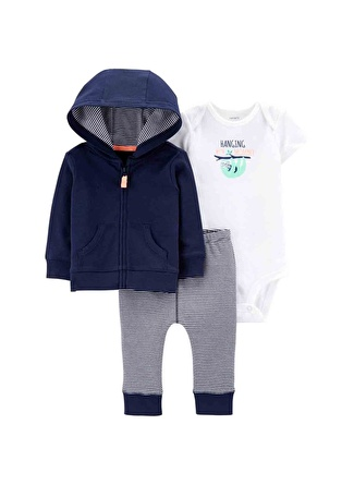 3 Ay Erkek Mavi Carters Set 3lü 5002440552003 Çocuk Bebek Giyim