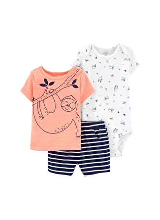 Ay Erkek Siyah - Gri Yeşil Carters Set 3lü 5002440553001 Çocuk Bebek Giyim