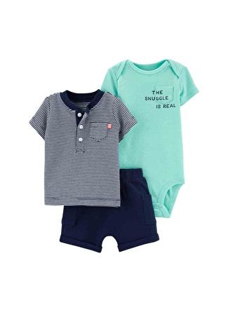 6 Ay Erkek Çok Renkli Carters Set 3lü 5002440577004 Çocuk Bebek Giyim