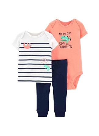 3 Ay Erkek Bej Carters Set 3lü 5002440580003 Çocuk Bebek Giyim
