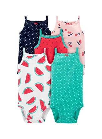 9 Ay Kadın Siyah - Gri Yeşil Carters 5'li Baskılı Desenli Set 5li 5002440583007 Bodysuits Kids