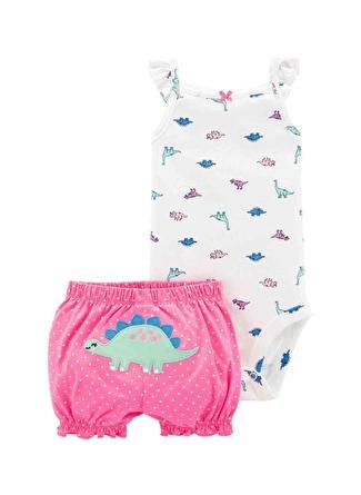 3 Ay Kadın Siyah - Gri Yeşil Carters Set 2li 5002440591005 Çocuk Bebek Giyim