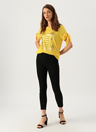 27-27 Renksiz Loft Natalie Siyah Pantolon 5002441093004 Kadın Giyim