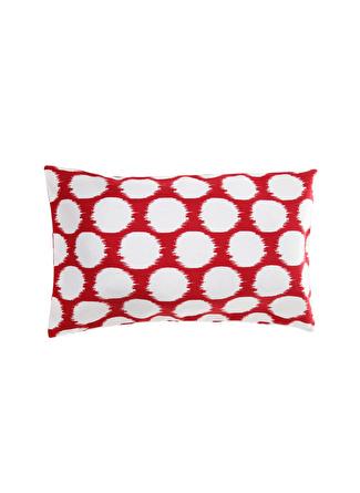 30 X 50 cm unisex Kırmızı - Beyaz Artnego Kırlent 5002441154001 Ev Tekstili Dekoratif Yastık