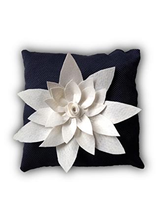 43 X cm unisex Lacivert - Beyaz Artnego Kırlent 5002441157001 Ev Tekstili Dekoratif Yastık