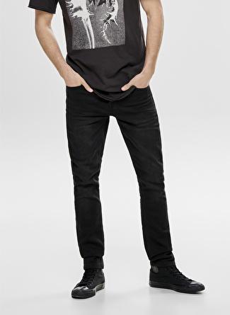 34-32 Siyah Only & Sons Slim Fit Denim Pantolon 5002441382012 Erkek Giyim Jean