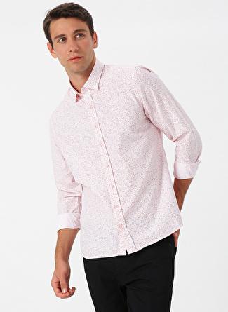 M Beyaz Altınyıldız Classic Desenli Gömlek 5002441756002 Erkek Giyim