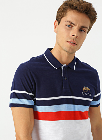 S Lacivert U.S. Polo Assn. Çizgili T-Shirt 5002441876004 Erkek Giyim T-shirt & Atlet