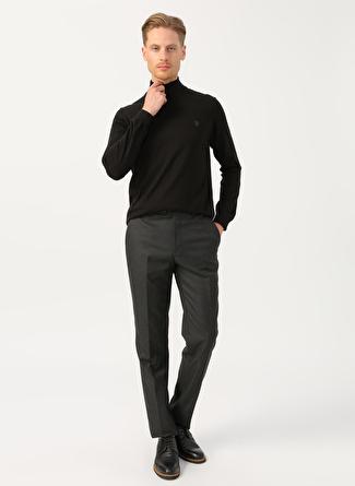 Cotton Bar Antrasit Klasik Pantolon