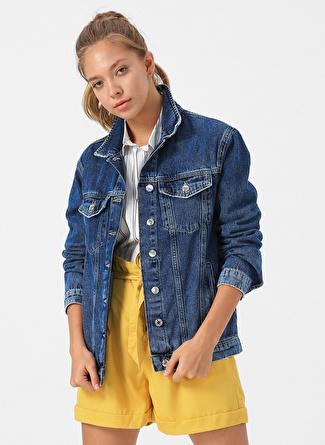 Mavi Koyu Gold Icon Denim Ceket