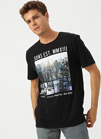 Only & Sons Siyah Baskılı T-Shirt