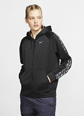 Nike Sportswear Logolu Tam Boy Fermuarlı Kadın Zip Ceket