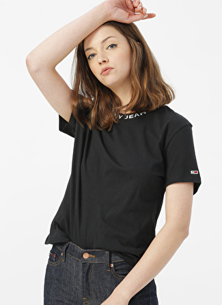 TOMMY JEANS Siyah T-Shirt