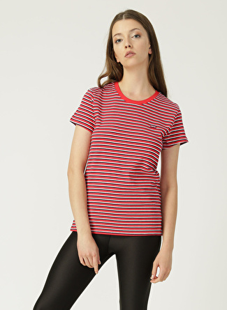 Levi's Perfect Tee Koronis Brilliant Red Stripe T-Shirt