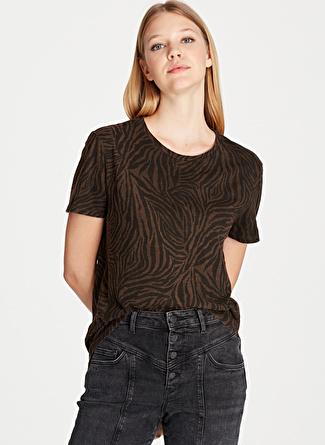 Mavi Kaplan Desenli Kahverengi T-Shirt