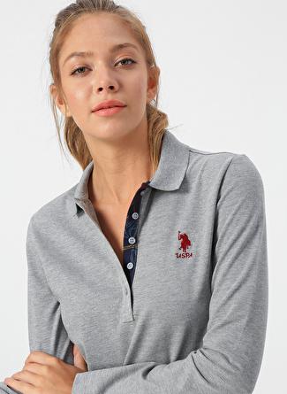U.S Polo Assn. Gri Melanj Sweatshirt
