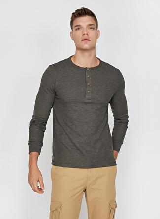 XL Yeşil Koton Sweatshırt 5002456991004 Spor Erkek Giyim Sweatshirt