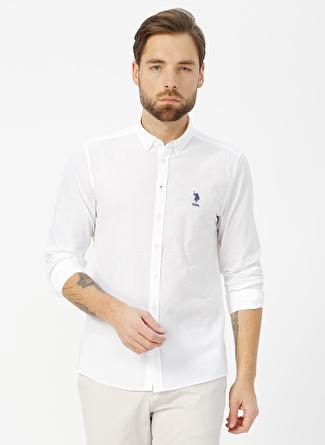 U.S Polo Assn. Beyaz Gömlek