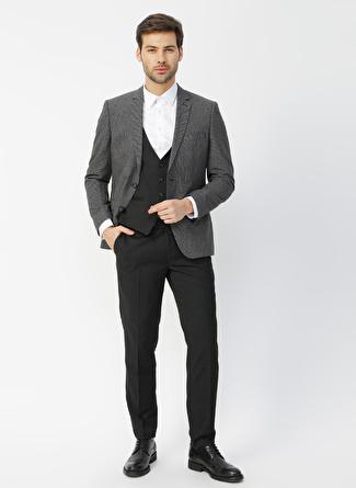 Pierre Cardin Antrasit Desenli Takım Elbise