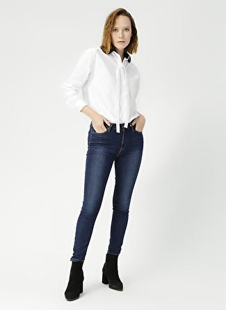 Loft LF 2019386 Nicole Arya Dark Blue Wash Denim Pantolon