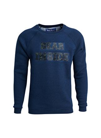 BAD BEAR Lacivert Baskılı Sweatshirt