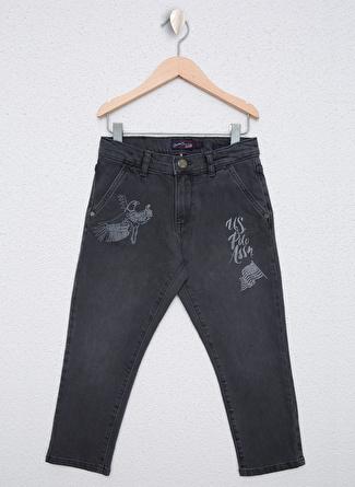 U.S Polo Assn. Gri Erkek Çocuk Denim Pantolon