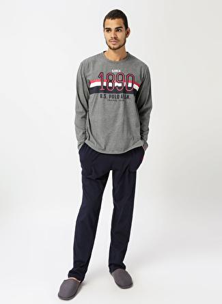 U.S Polo Assn. Antrasit Baskılı Pijama Takımı