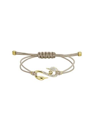 Swarovski Power Collection Hook Bej - Altın Rengi Kaplama Bileklik