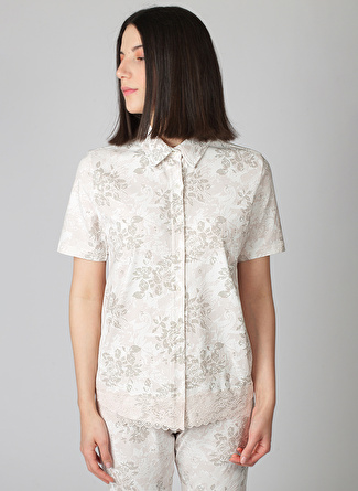 Hays Gömlek Model Çiçek Desenli Pijama Üst