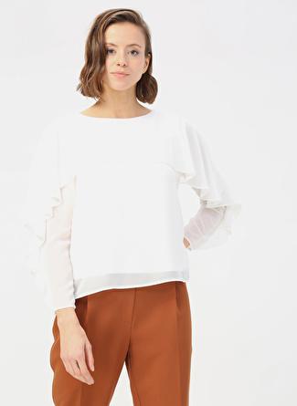 Random Koyu Beyaz Bluz