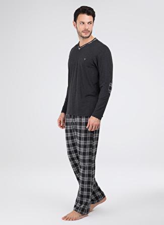 Blackspade Siyah Melanj Pijama Takımı