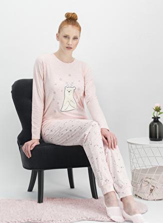 Arnetta Pembe Baskılı Pijama Takımı