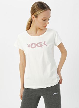 Bilcee Krem Baskılı T-Shirt