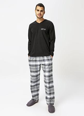 Arnetta Siyah Desenli Pijama Takımı
