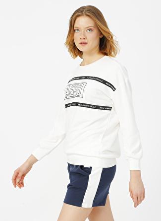Aeropostale Beyaz Sweatshirt