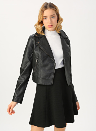 Aeropostale Siyah Deri Kadın Ceket