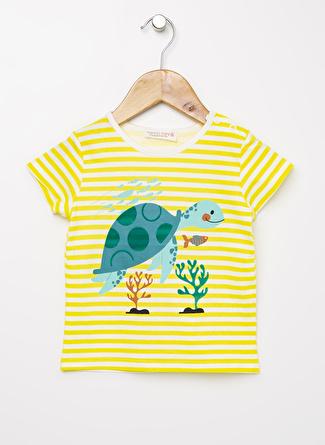 Mammaramma Erkek Bebek Baskılı Siyah - Beyaz T-Shirt