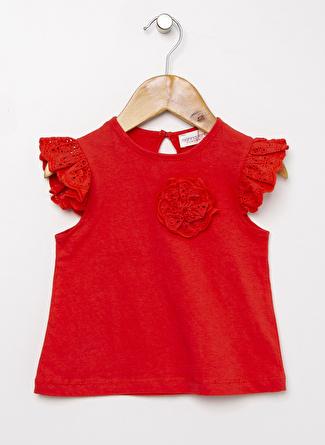 Mammaramma Kız Bebek Baskılı Kırmızı T-Shirt