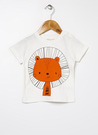 Mammaramma Erkek Bebek Baskılı Beyaz T-Shirt
