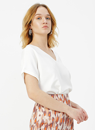 Fabrika Comfort Beyaz Bluz
