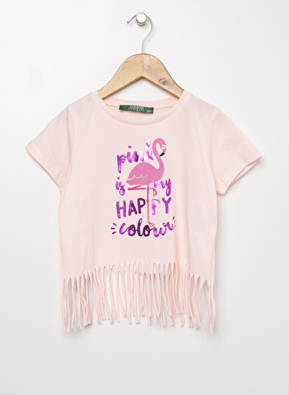 Limon Company Kız Çocuk Püsküllü Açık Pembe T-Shirt