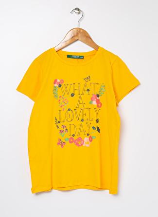 Limon Company Kız Çocuk Sim Baskılı Sarı T-Shirt