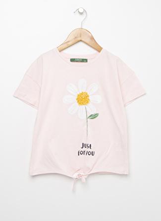 Limon Company Kız Çocuk Bağlamalı Açık Pembe T-Shirt