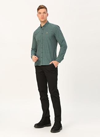 U.S Polo Assn. Kareli Yeşil Pantolon
